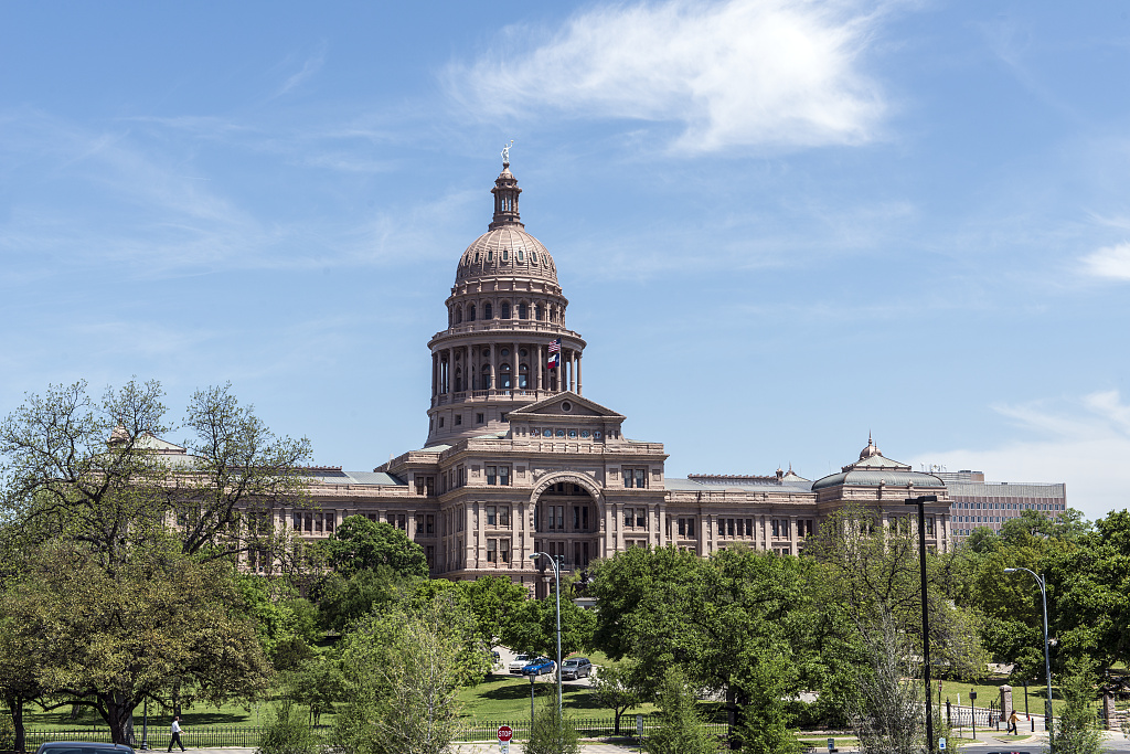 The Texas Capitol, Austin, Texas illustrating page about collections services in New York State.