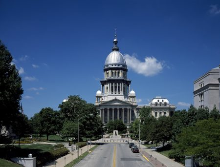Illinois State Capitol in Springfield, Illinois, illustrating a page about collections services in New York State.