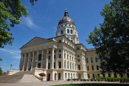 Kansas state capitol building in Topeka, Kansas